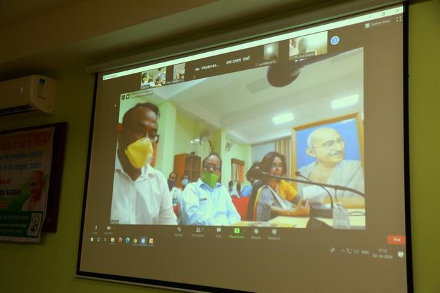 Closing Ceremony program through Video Conferencing- ICAR-NINFET, Kolkata